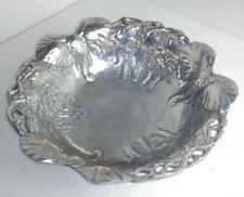 "Lg Arthur Court Aluminum Salad Bowl Embossed Elephants 13"""