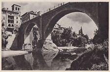 D5297 Cividale del Friuli - Il Ponte del Diavolo - Stampa d'epoca - 1938 print