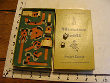 scarce POCKET GOLF, from miniature games  Wood and Paper