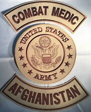 US ARMY SEAL COMBAT MEDIC AFGHANISTAN MILITARY MOTORCYCLE VEST LOT OF 3 PATCHES