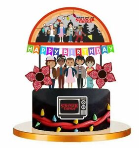 Set of STRANGER THINGS Birthday Cup Cake Party Toppers / Decorations