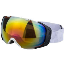 2017 White Adult Ski Skiing Goggles Anti-fog Coloured Double Len Adult Snowboard