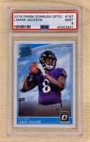 2018 Panini Donruss Optic Lamar Jackson RC Rookie #167 PSA 9 Mint Ravens