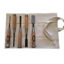 5 Piece Japanese Shirogami Chisel Set In Roll NK5R