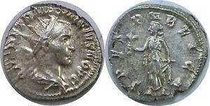 250-251 AD Roman Herennius Etruscus As Caesar Spes Silver Antoninianus