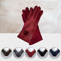 Women Winter Warm Gloves Touch Screen Outdoor Driving Soft Wrist Gloves Mittens