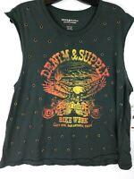 NWT Ralph Lauren Denim & Supply Womens Mens Size Large T-Shirt Bike Week Grommet
