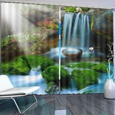 Wet Nice Soil Waterfall 3D Curtain Blockout Photo Printing Curtains Drape Fabric