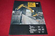 Caterpillar 330C MH Waste Handler Excavator Dealer's Brochure YABE14