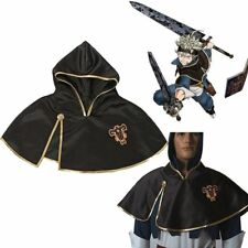 Asta Black Clover Team Black Bull Hooded Black Short Cloak Cosplay Costume