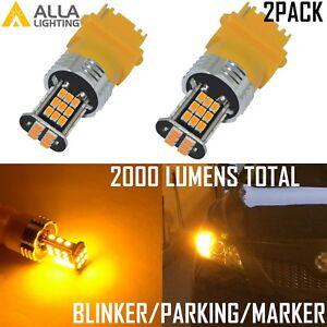 Alla Lighting LED 3157 Turn Signal Blinker/Parking/Side Marker Light Bulb Yellow