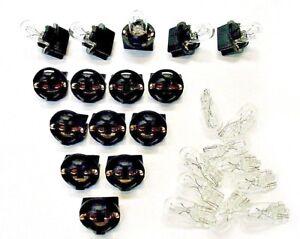 "15 Clear Incandescent Lights Bulbs Lamps 1/2"" Sockets 194 Dash Side Marker Mopar"