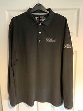 Mens Oscar Jacobson long Sleeve Polo, Large, Golf Top, Black