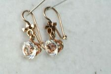 VICTORIAN ANTIQUE 14K ROSE GOLD PASTE EARRINGS