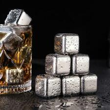 Stainless Steel Ice Cubes Clamp Set Reusable Chilling Stones for Whiskey Wine