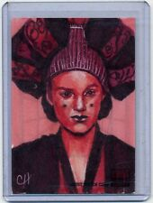 PADME AMIDALA Topps STAR WARS GALAXY 5 SKETCH CARD by CHRIS HENDERSON
