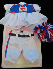 Ty Gear for Beanie Kids Cheerleader Dress & PomPoms BaseBall Pants Doll Clothes