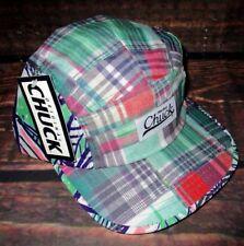 MENS CHUCK FIVE PANEL TROPICAL MADRAS PRINT HAT STRAPBACK ADJUSTABLE CAP