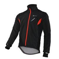 RockBros Cycling Outdoor Winter Fleece Windproof Coat Warm Jacket Jersey Black