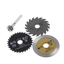 3pc HSS Circular Wood Steel Cutting Saw Blade Discs Mandrel Kit for Rotary Tool