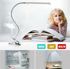 US Flexible USB Clip-on Table Lamp LED Clamp Reading/Study/Bed/Laptop/Desk Light