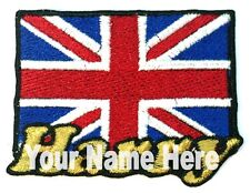 Flag of the United Kingdom Custom Iron-on Patch With Name Personalized Free