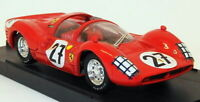Bang Models 1/43 Scale Diecast 7105A - Ferrari 330 Racing Car - Red