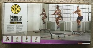 New! Gold's Gym Cardio Trampoline With Timer, Monitor, and Resistance Tubes