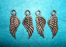 Pendant Wing Charms Lot of 4 Angel Wings Fairy Wings Bird Wings Charm