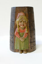 Vintage German Hansel Gretel Candy Hors d'oeuvre Stand Wood