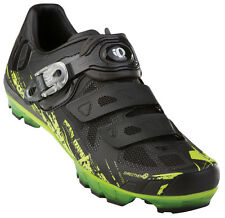 Pearl Izumi X-Project 1.0 MTB Carbon Mountain Bike Shoes Black/Green - 39.5