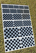 CAFE RACER HOT ROD SILVER Chequered Flag stickers declas race bike superbike