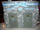 Army diaper bag - handmade Army tote with zipper military fabric