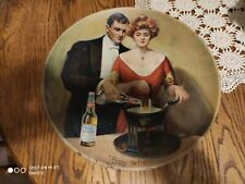"""Antique BUDWEISER TRAY """"Say When"""" 1910"""