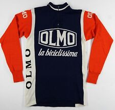 Olmo Bicycles Italian Wool Vintage Cycling 3 Btn Pocket Jersey Long Sleeve Sz 3