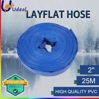 PVC Layflat 2 Inch 50mm Hose Water Pump Transfer Lay Flat 25m Outlet Discharge
