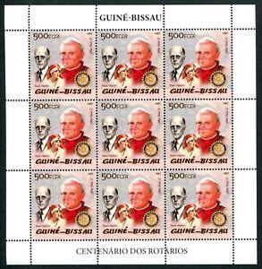 MTC1775 Guinea Bissau 2005 MNH Sheet Rotary P Harris Red Cross Pope J Paul II