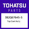 3B2Q67645-5 Tohatsu Top cowl ass'y 3B2Q676455, New Genuine OEM Part