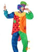 Herren Faschingskostüm kunterbunter Clown Gr. XXL Zirkus Clownskostüm Show Party