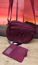 Art Sac Crossbody Messenger Bag With Matching Wallet, Burgandy, 30cm X 21cm