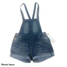 DENIZEN BY LEVI'S Women's Blue Jean Shortall Sz Small Distressed Buckle Straps
