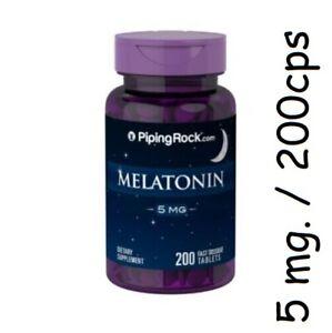 MELATONINA 5 mg DORMIR MAS Y MEJOR  ALTA POTENCIA  ALTA CALIDAD 200cp ENVIO URG