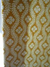 "2 89"" Pierre Deux Yellow Ochre Gold Chloe Fleur Drape Panel Fully Lined Weights"