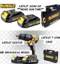 DEWALT 18v BRUSHLESS COMBI HAMMER DRILL DCD778 *NEW MODEL X2 3.0AH BATTERIES*