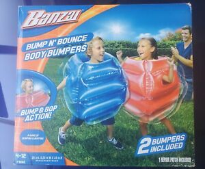 NEW. Banzai Bump N' Bounce Body Bumpers. 2 Bumpers Included. Ages 4-12.