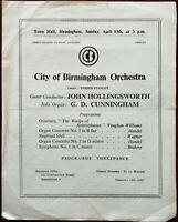 City of Birmingham Orchestra, Town Hall Birmingham 32nd Sunday Concert 1946-47 P