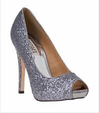 Stiletto Leather Bridal or Wedding Open Toe Heels for Women