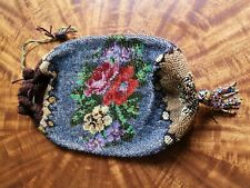 Wunderschöner antiker Perlenbeutel Damentasche Biedermeier
