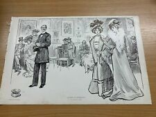 1902 CHARLES DANA GIBSON ANTIQUE LARGE DOUBLE-SIDED PRINT GIBSON GIRL #29