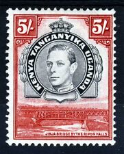 Il Kenya Uganda Tanganyika & KG vi 1938 5 / - NERO & Rosso PERF. 13 1/4 SG 148 MINT